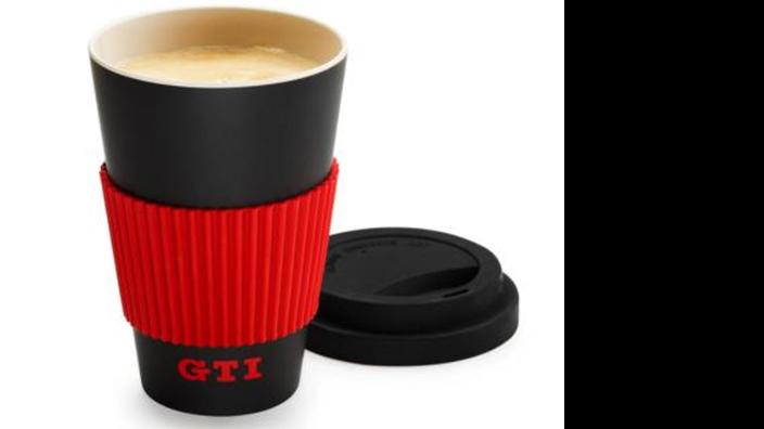 Volkswagen GTI Becher To Go, schwarz/rot