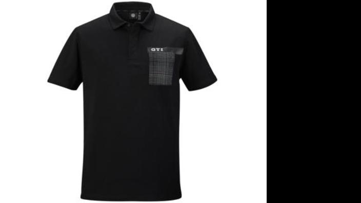 Volkswagen GTI Herren Polo Shirt schwarz, Gr. M