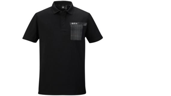 VW GTI Herren Polo Shirt schwarz, Gr. 3XL