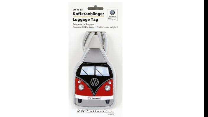 Volkswagen Bulli Kofferanhänger, schwarz/rot