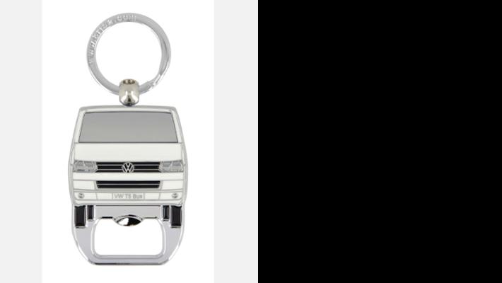 VW T5 Bus Schlüsselanhänger mit Flaschenöffner weiß