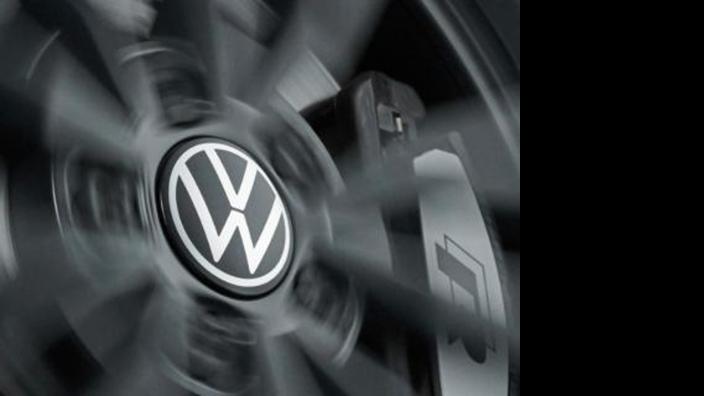 Volkswagen  dynamische Nabenkappen (neues VW Logo)