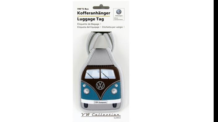 Volkswagen Bulli Kofferanhänger, petrol/braun