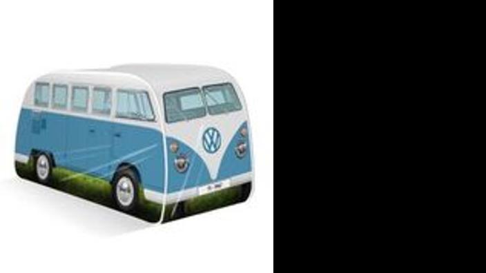 Volkswagen T1 Kinder Pop Up Spielzelt, blau