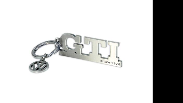 """Volkswagen GTI Schlüsselanhänger """"Since 1976"""", silber"""