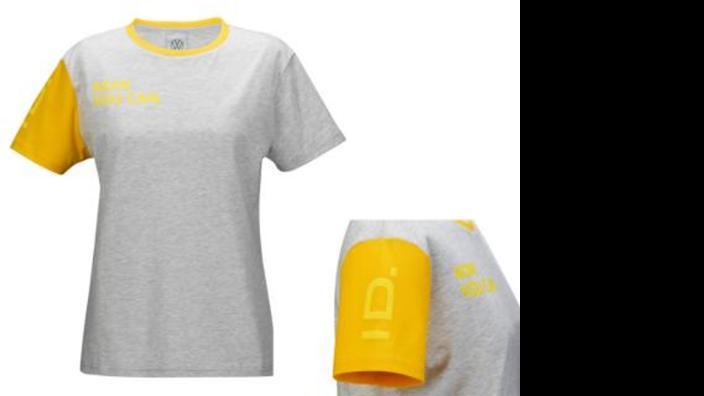 Volkswagen Damen T-Shirt, Gr. S, grau, ID Kollektion