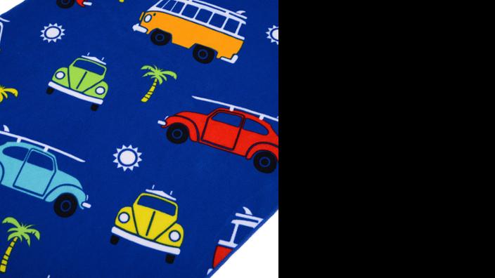 Volkswagen Käfer und Bulli Kinder Strandtuch